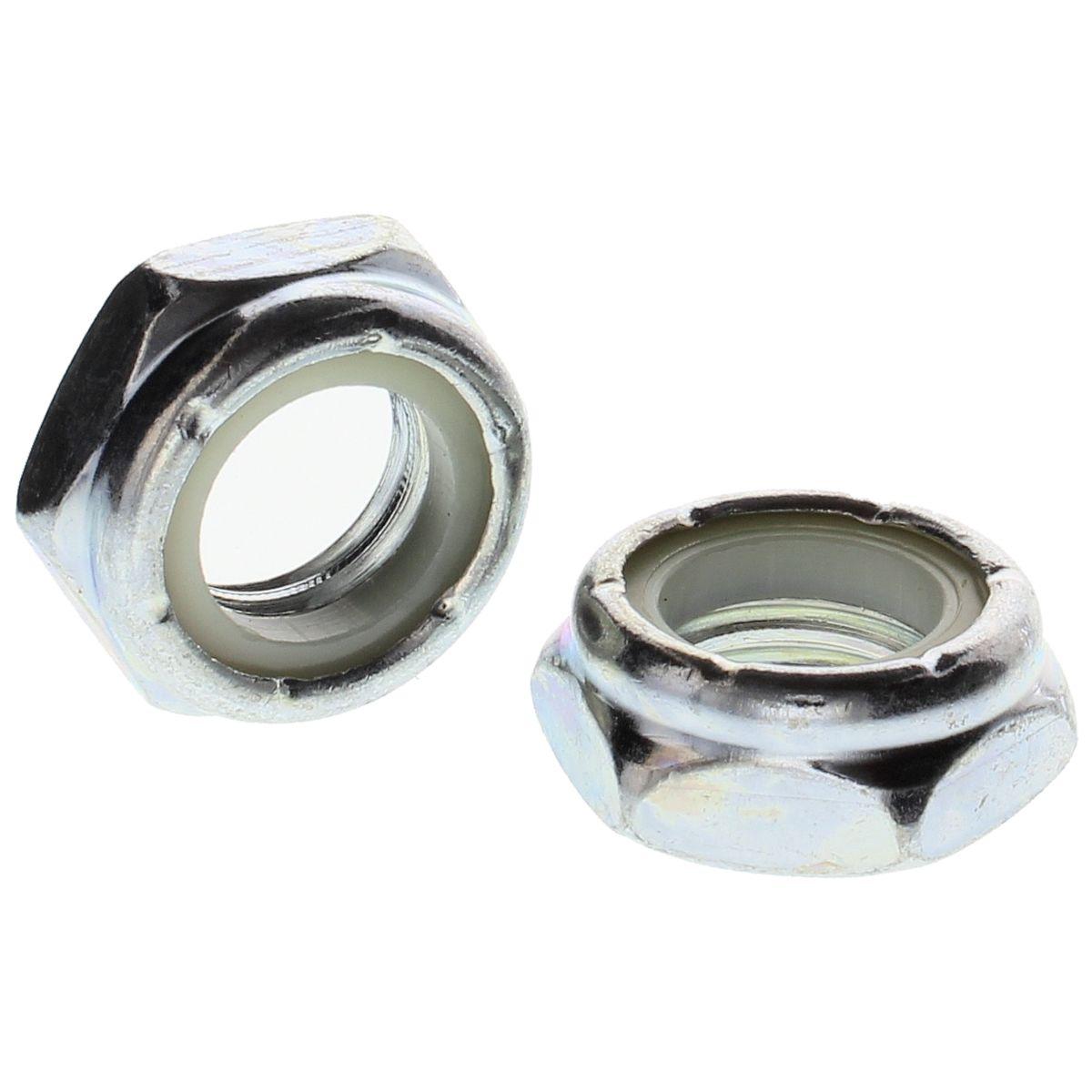 "1-1/4""-12 Hex Thin (Jam) Nylon Insert Lock Nuts — ASME B18.16.6, Zinc, Fine, 1/PKG"