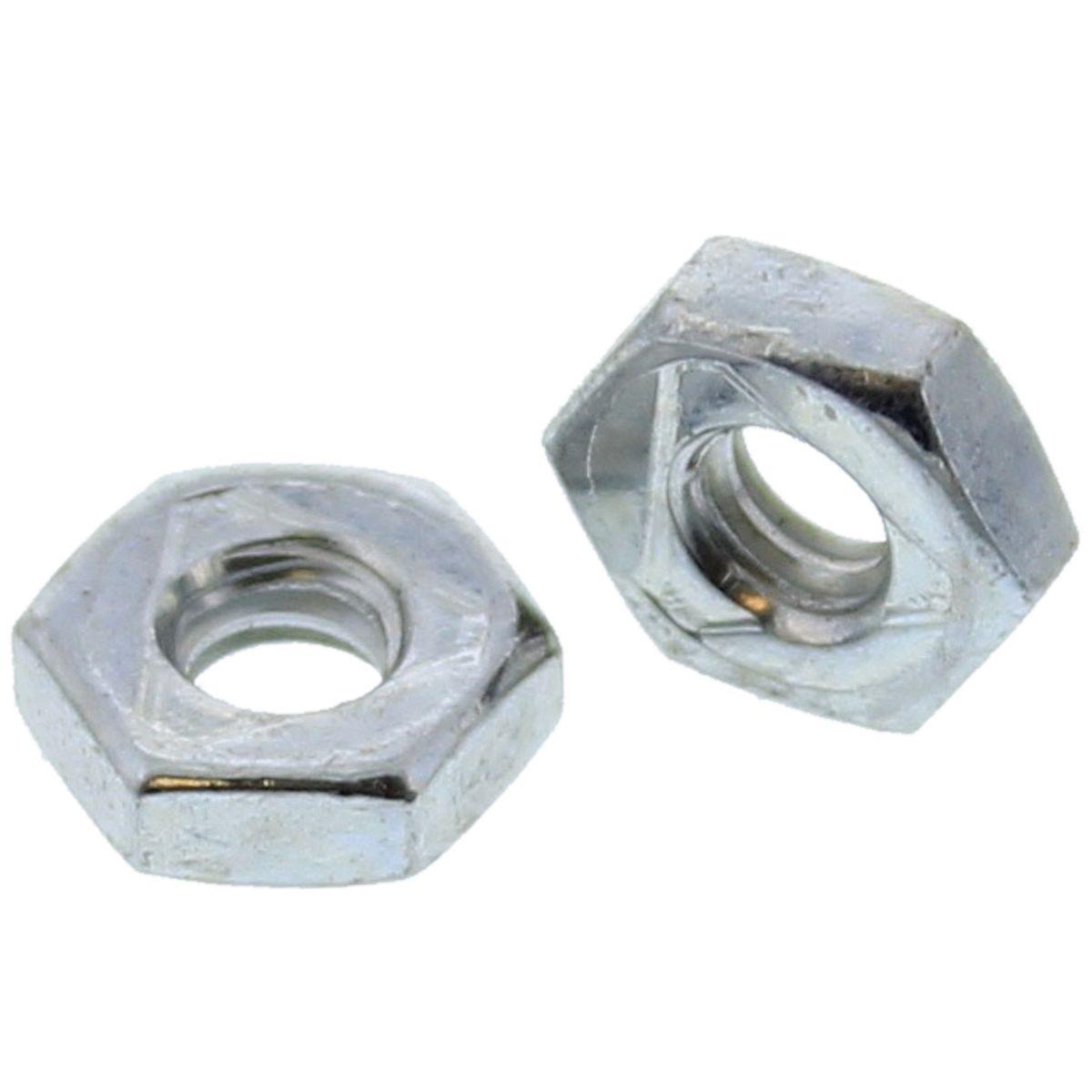 #10-32  Uni-Torque Locking Nuts — All Steel Grade A, Fine, Zinc & Waxed, 100/PKG