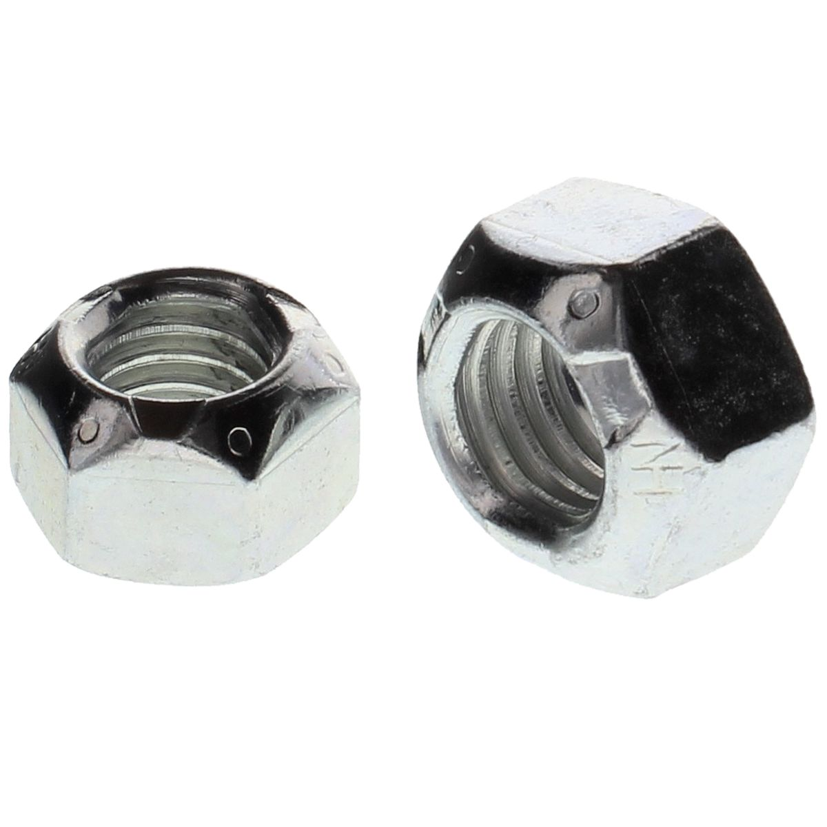"1""-8  Uni-Torque Locking Nuts — All Steel Grade C, Coarse, Zinc & Waxed, 10/PKG"