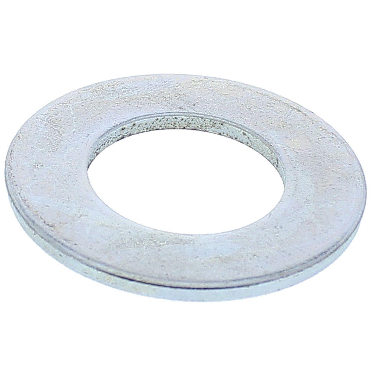 "#10 x 1/2"" x 3/64"" SAE Flat Washers — ASME B18.21.1, Zinc, 100/PKG"