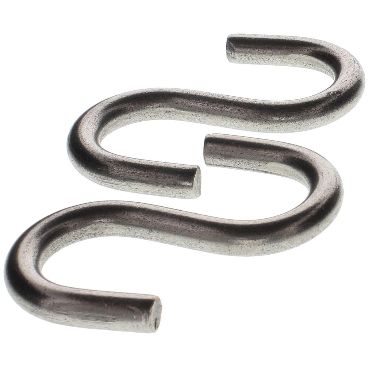 """.177 x 2-1/8"""" x 3/4"""" S-Hooks — 18-8 Stainless Steel, 50/PKG"""