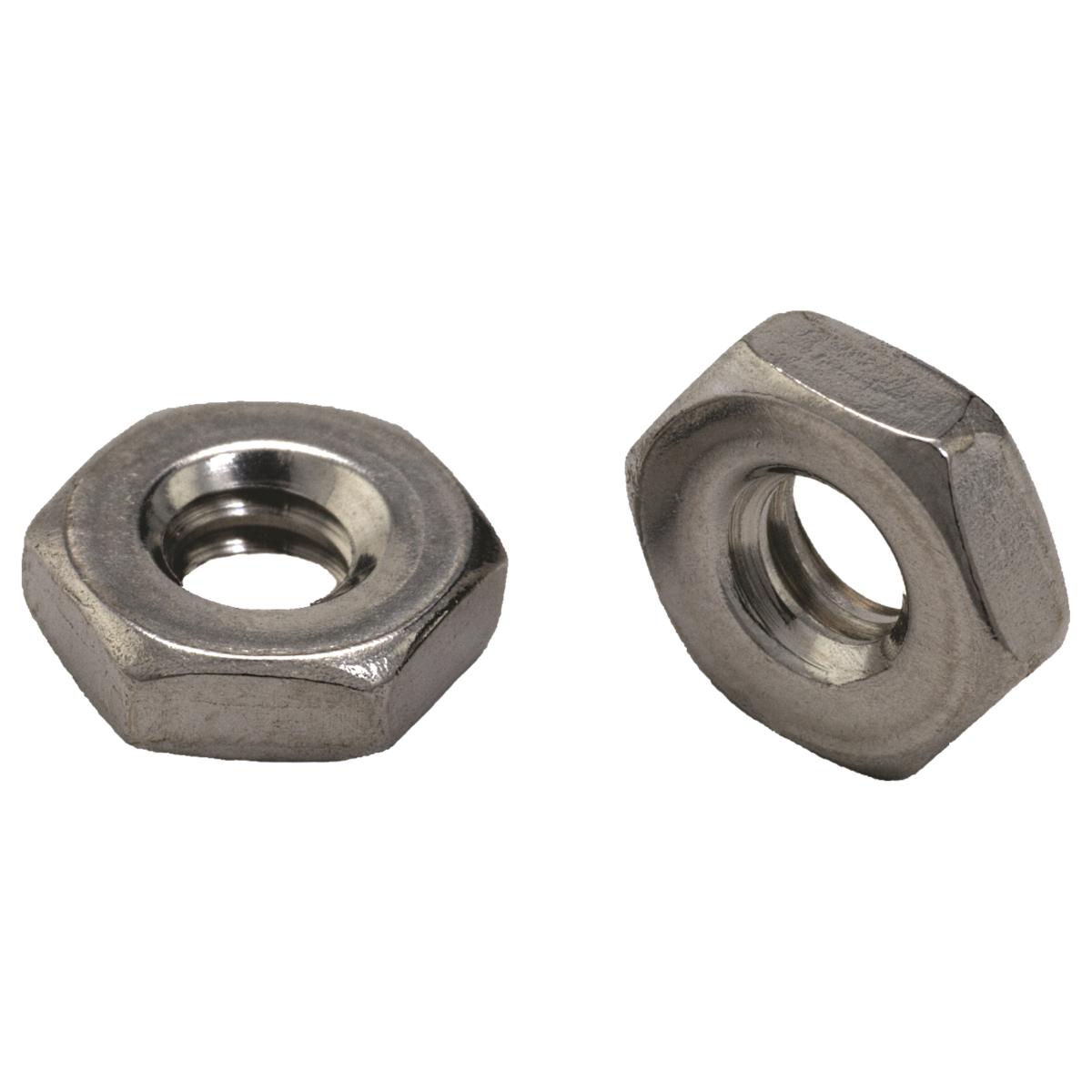 #12-24 Hex Machine Screw Nuts — 18-8 Stainless Steel, Coarse, 100/PKG