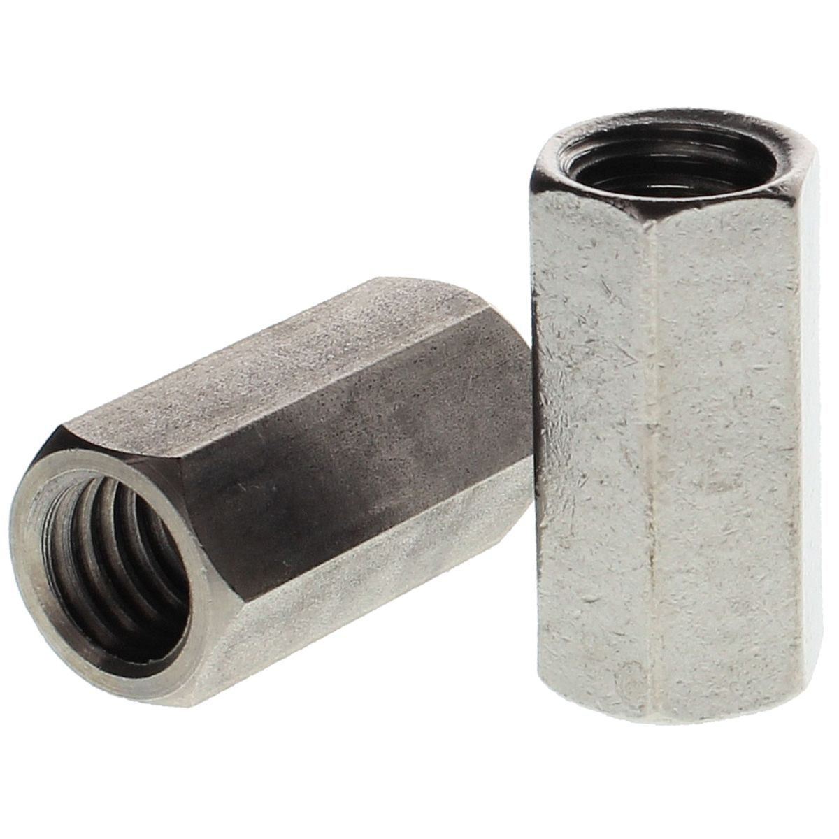 """#10-24 x 3/4"""" Hex Coupling Nuts — 18-8 Stainless Steel, Coarse, 25/PKG"""