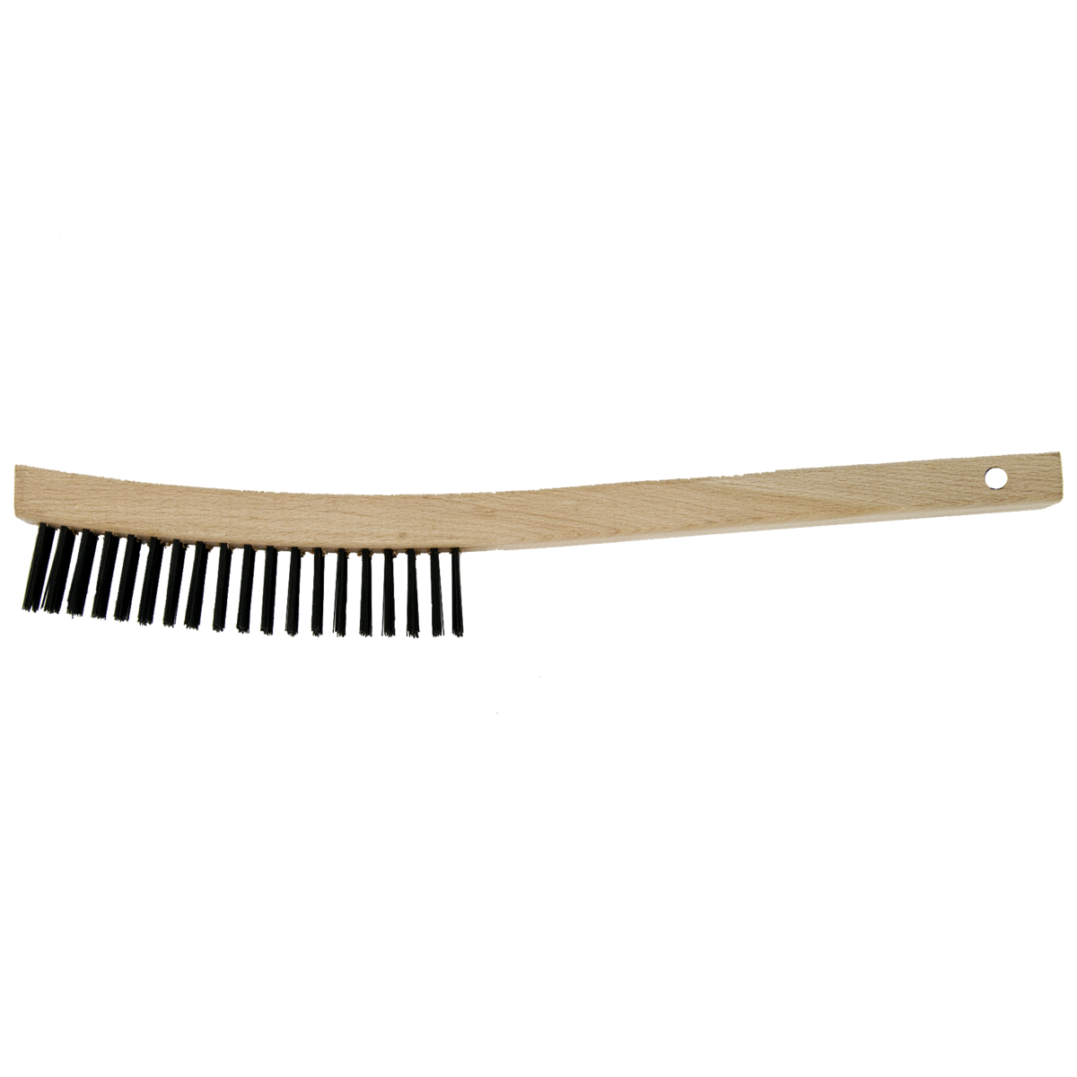 """14"""" 3 x 19 Curved Handle Wire Scratch Brush"""