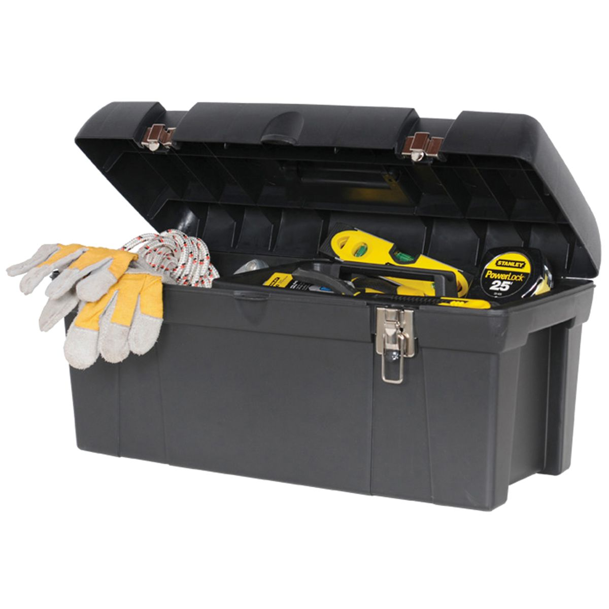 """Stanley 26"""" Large Tool Box — Heavy Duty Molded Plastic"""