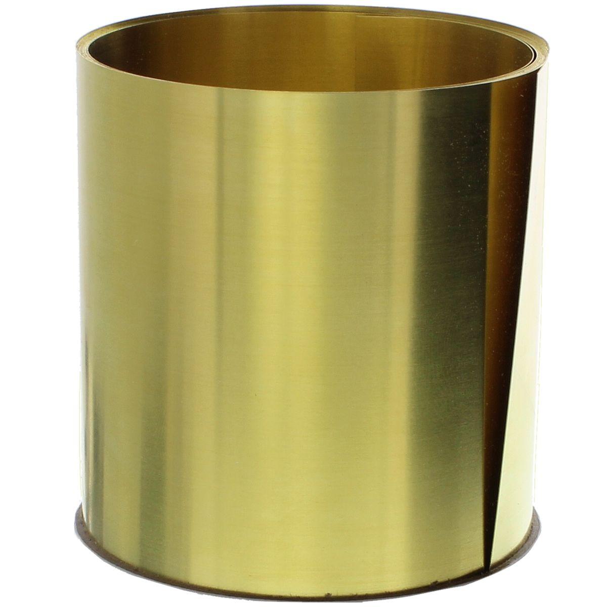 ".015"" Brass Single Rolls, 6"" x 100"" Shim Stock"