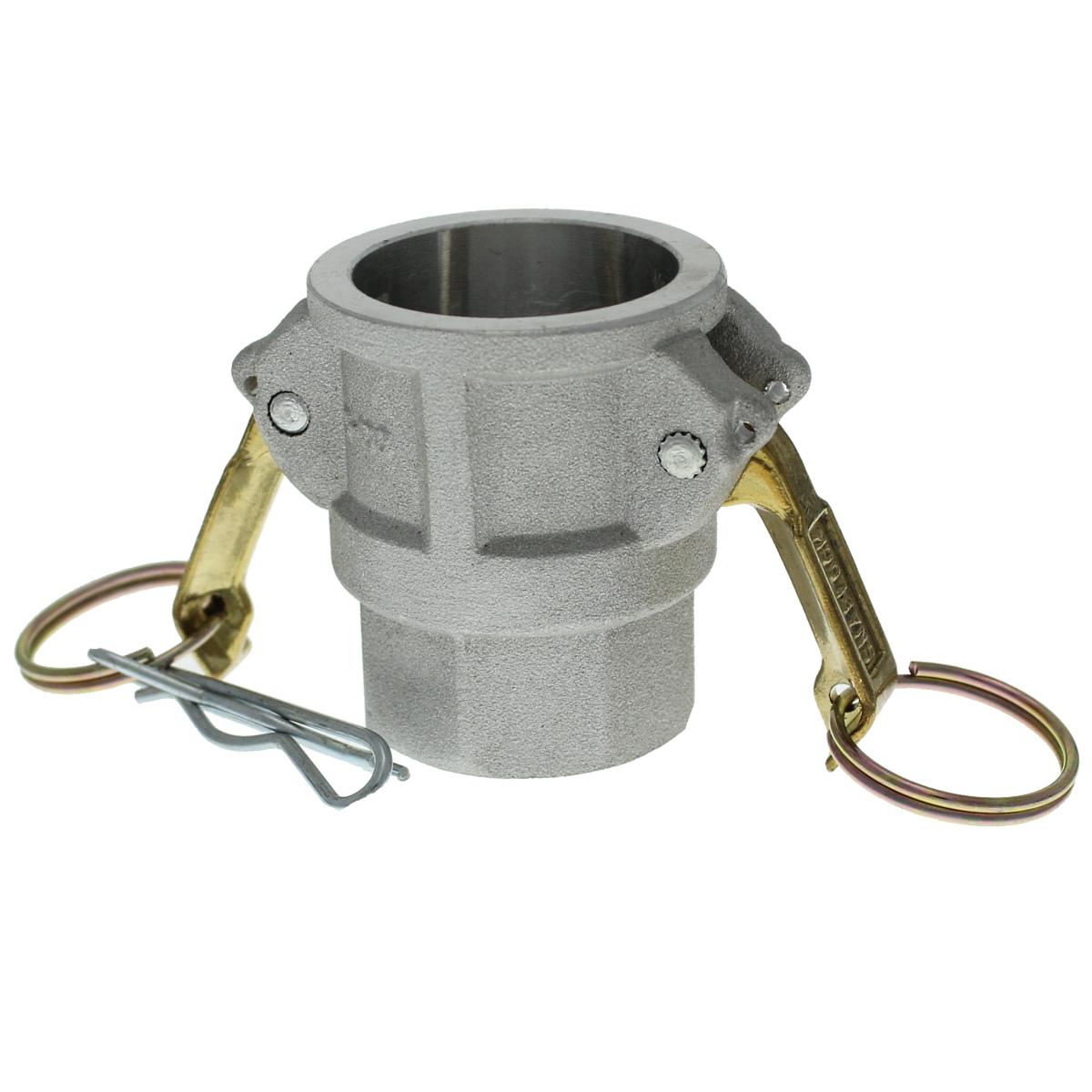 """1"""" Female x Female NPT Aluminum Cam Lock Coupler"""