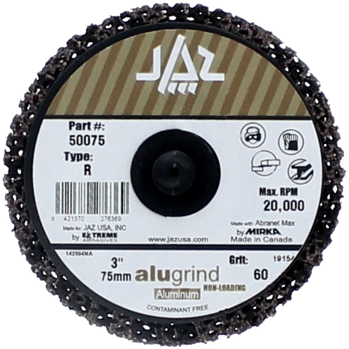 "2"" 80 Grit Type 27  Alugrind Flap Disc for Aluminum"
