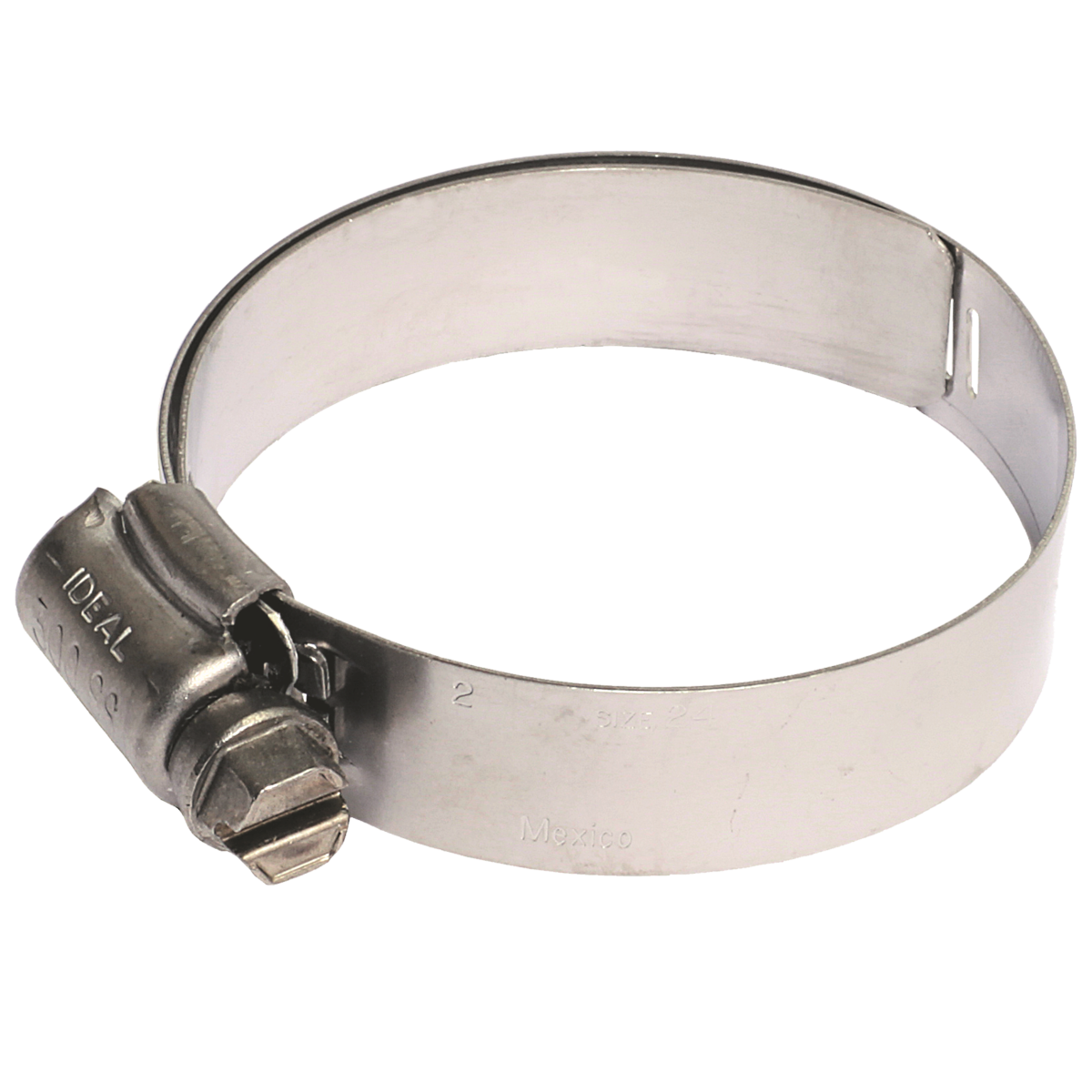 """#10 Lined Hose Clamps, 300 Stainless 9/16"""" Band - 5/16"""" Hex Head, 10/PKG"""