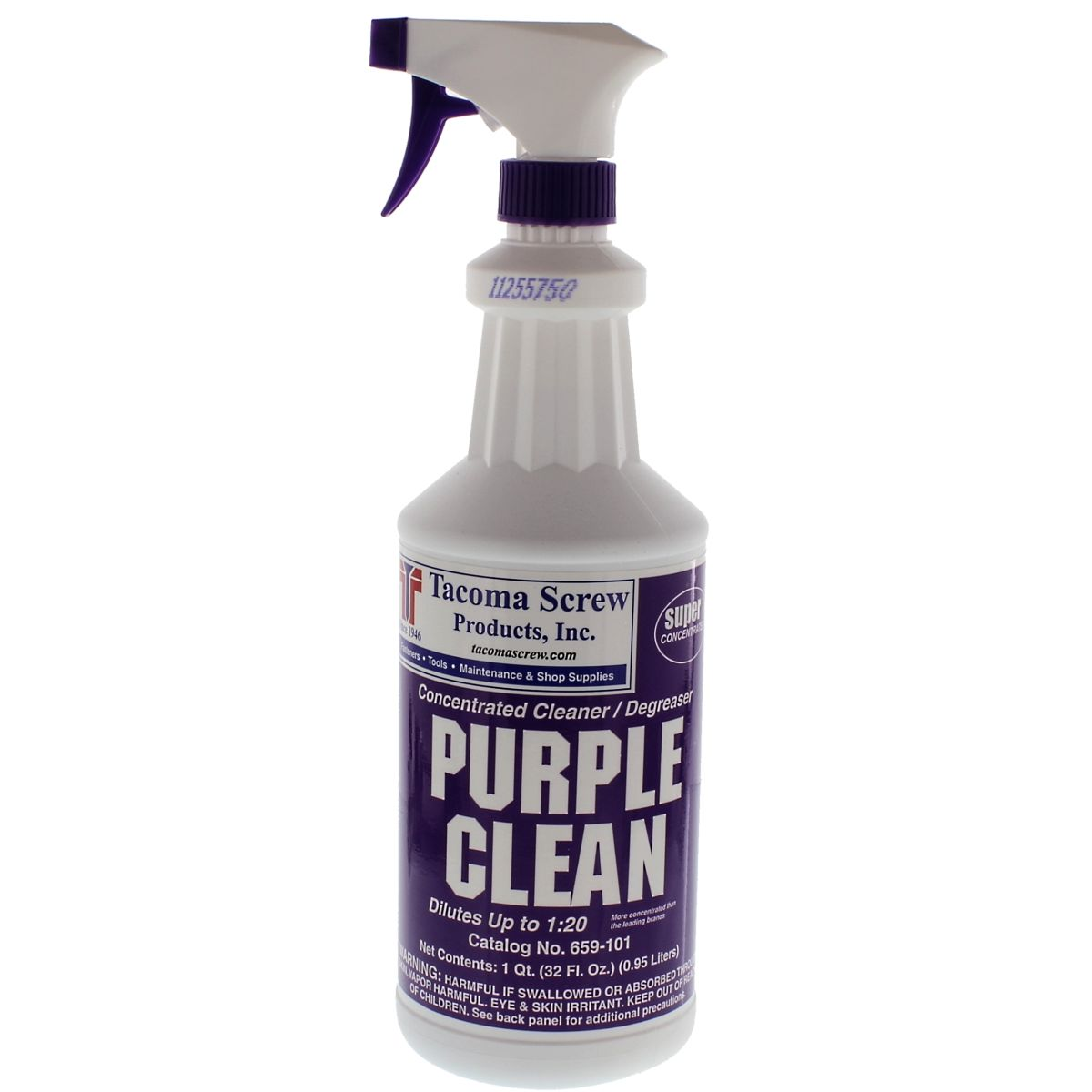 Tacoma Screw Products™ Purple Clean Industrial Strength Cleaner/Degreaser — 1 qt. Plastic Bottle