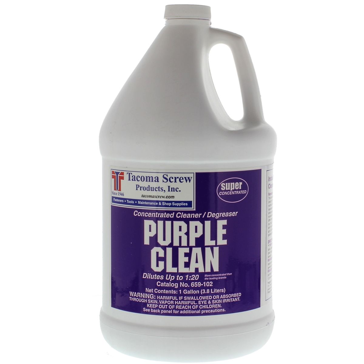 Tacoma Screw Products™ Purple Clean Industrial Strength Cleaner/Degreaser — 1 gal. Plastic Bottle