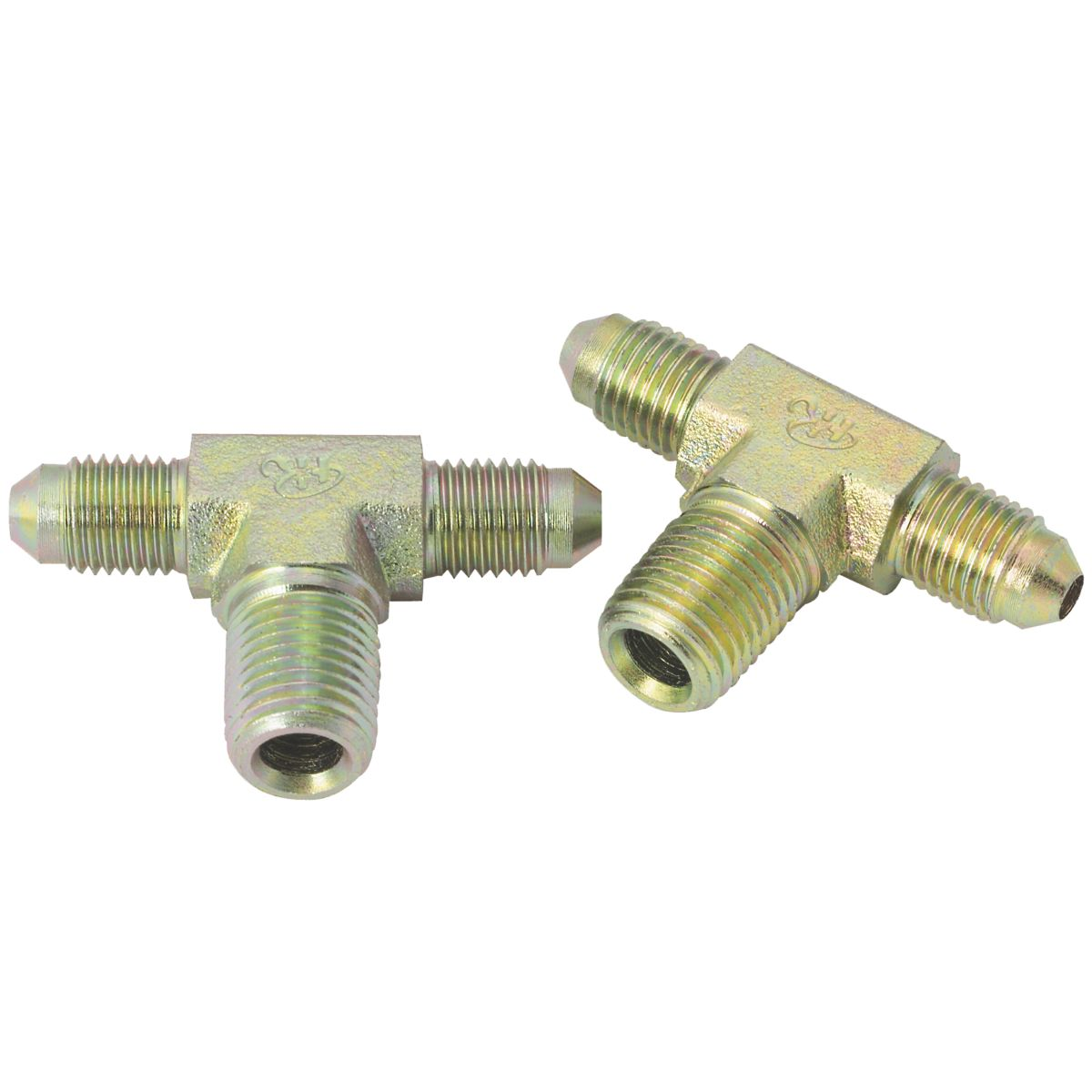 """1-1/16""""-12 x 1-1/16""""-12 x 3/4""""-14 Male JIC to Male Pipe Branch Tee"""