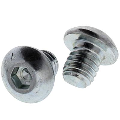 "#10-24 x 1"" Button Head Socket Cap Screws — Alloy Steel Heat Treated, Coarse, Zinc, 100/PKG"