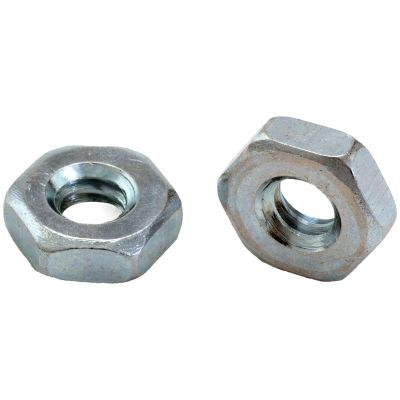 #10-24 Hex Machine Screw Nuts — ASME B18.2.2, Zinc, Coarse, 100/PKG