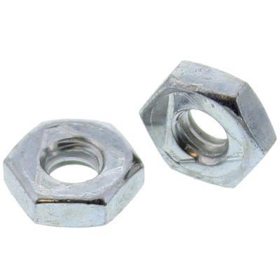 #10-24  Uni-Torque Locking Nuts — All Steel Grade A, Coarse, Zinc & Waxed, 100/PKG