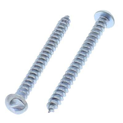 "#10 x 1"" One-Way Round Head Tapping Screws — Zinc, 100/PKG"