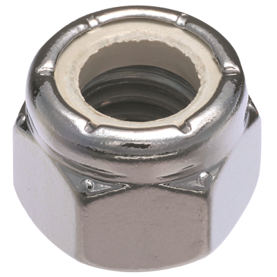 #10-24 Nylon Insert Lock Nuts — 18-8 Stainless Steel, Coarse, 100/PKG