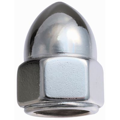#10-32 Hex Cap Nuts — Chrome Plated, Fine