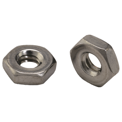 #10-24 Hex Machine Screw Nuts — 18-8 Stainless Steel, Coarse, 100/PKG