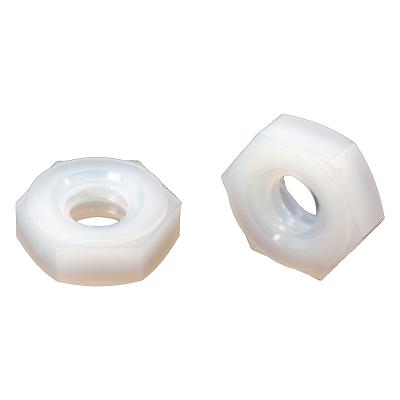 #10-24 Hex Machine Screw Nuts — Nylon, Coarse, 100/PKG