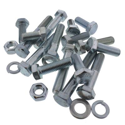 Carriage & Lag Screws — Steel, Zinc Bolt Bin Assortment