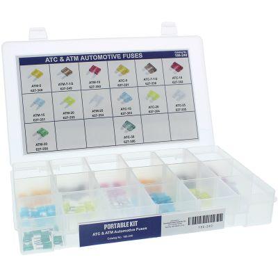 ATC & ATM Automotive Fuses Portable Kit Assortment