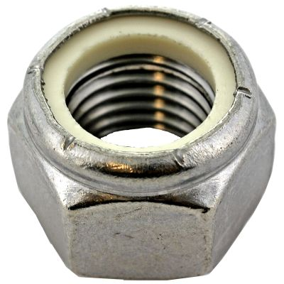 #10-24 Nylon Insert Lock Nuts — Type 316 Stainless Steel, Coarse, 100/PKG