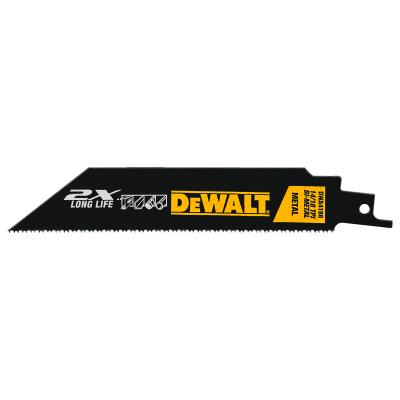 """DeWalt DWA4186 6"""" 14/18 TPI Metal Cutting Reciprocating Saw Blades 5/PK"""