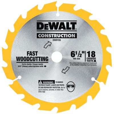 """DeWALT 6-1/2"""" x 18T Universal Circular Saw Blade"""