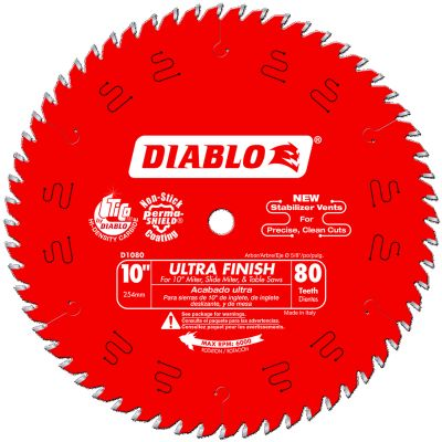 "Diablo 10"" x 80T 5/8"" Circular Saw Blade"