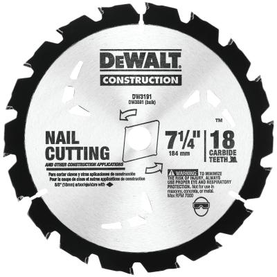 """DeWALT 7-1/4"""" x 18T Universal Circular Saw Blade"""