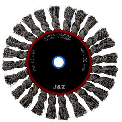 "6""  x 5/8"" & 1/2"" Arbor .015"" Knot Type Standard Twist Wire Wheel — Steel"