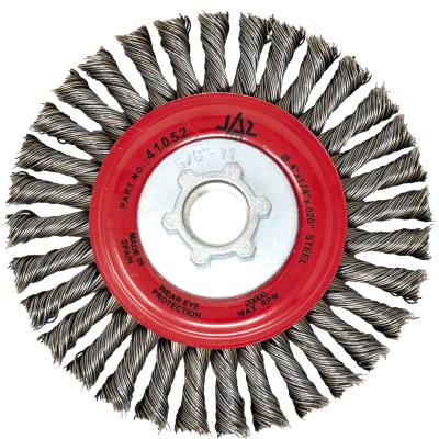 "4""  x M10.125 Arbor .020"" Knot Type Stringer Bead Wire Wheel — Steel"
