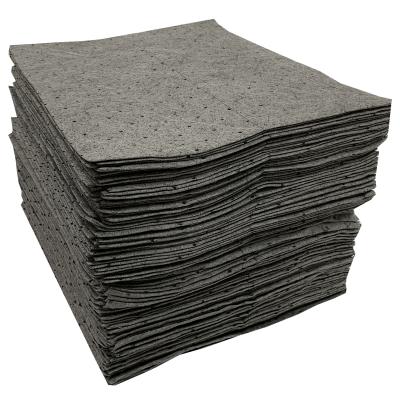 "15"" x 18"" Single Weight Absorbent Pads, Gray, 200/PKG"