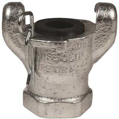 """2-Lug 1/2"""" NPT Female Hose End – Iron Zinc Plated"""