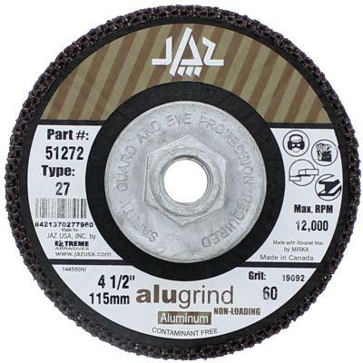 "4-1/2"" x 5/8""-11 120 Grit Type 27  Alugrind Flap Disc for Aluminum"