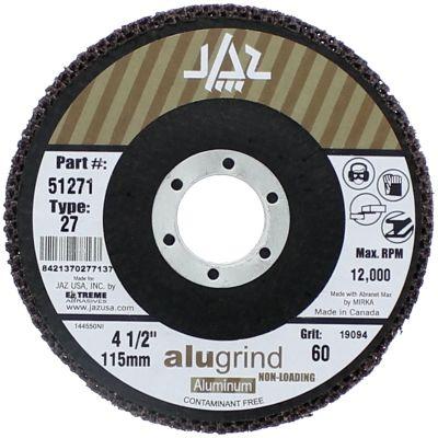 "4-1/2"" x 7/8"" 120 Grit Type 27  Alugrind Flap Disc for Aluminum"