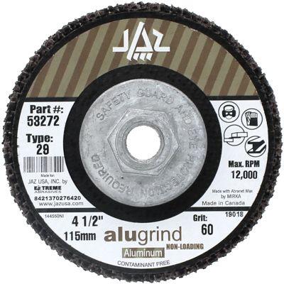 "4-1/2"" x 5/8""-11 120 Grit Type 29  Alugrind Flap Disc for Aluminum"