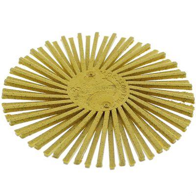 "3M™ 24277 3"" 80 - Medium Grit Radial Roloc Bristle Disc, Yellow"