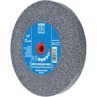 """10"""" x 1"""" x 1-1/4"""" 24 Grit Type 1 Industrial Vitrified Grinding Wheels"""