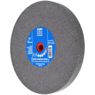 """10"""" x 1"""" x 1-1/4"""" 60 Grit Type 1 Industrial Vitrified Grinding Wheels"""