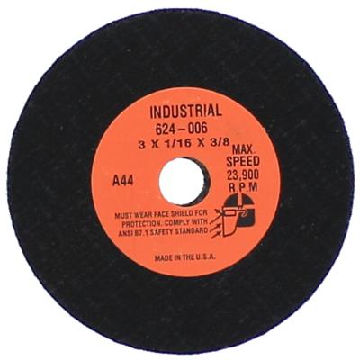 "3"" x 1/16"" x 3/8"" Type 1 Cut-Off Wheels for Ferrous Metals"