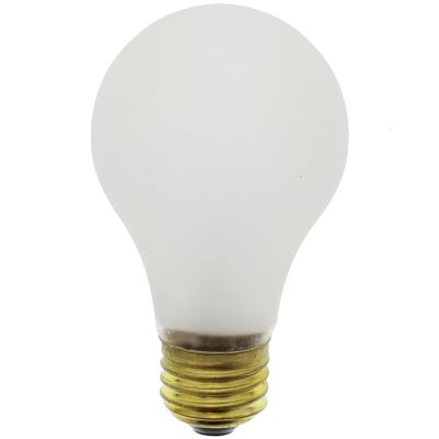 100 Watt Light Bulb, Frost, Rough Service, Tuff-Skin