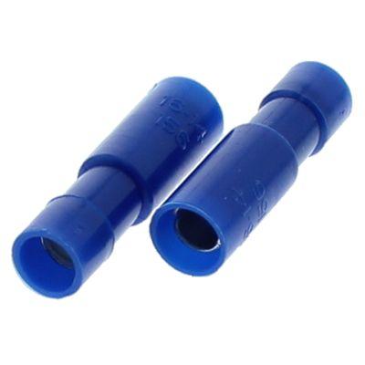 16-14 AWG Blue Nylon Bullet Receptacle — Single Snap, 50/PKG