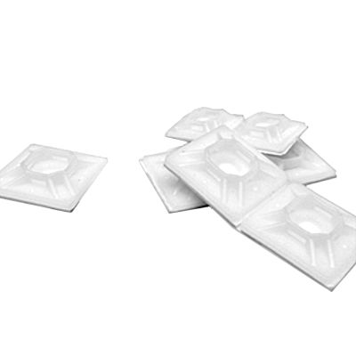"""1"""" x 1"""" Cable Tie Adhesive Mounting Pads — Natural, 100/PKG"""