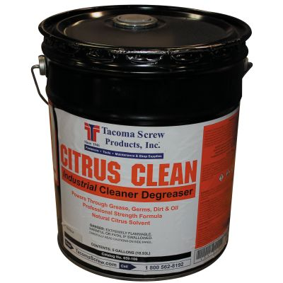 Tacoma Screw Products™ Citrus Clean Industrial Cleaner/Degreaser — 5 gal. Pail