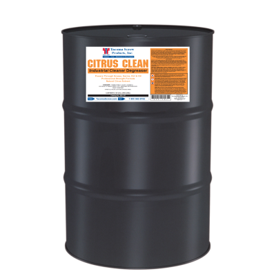 Tacoma Screw Products™ Citrus Clean Industrial Cleaner/Degreaser — 55 gal. Drum