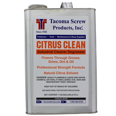 Tacoma Screw Products™ Citrus Clean Industrial Cleaner/Degreaser — 1 gal. Metal Can