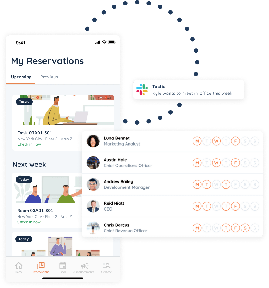 mobile and web reservations view