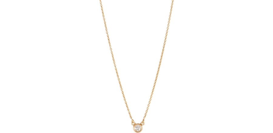 fe0809d6221ba Solitaire Diamond Necklace, 18ct Gold | Tada & Toy